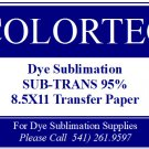Dye Sublimation Inks -SUB-TRANS 95% Plus Transfer Paper