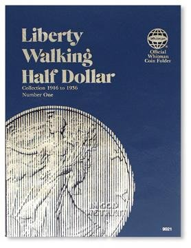 #9021 Whitman Folder for Walking Liberty Half Dollars 1916-1936