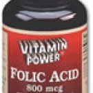 Folic Acid 800 mcg    500 Tablets    802V