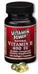 Natural Vitamin E 400 IU Softgels    500 Softgel Capsules    504V
