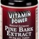 Pine Bark Extract 30 mg (4:1 ratio)    90 Tablets    623P