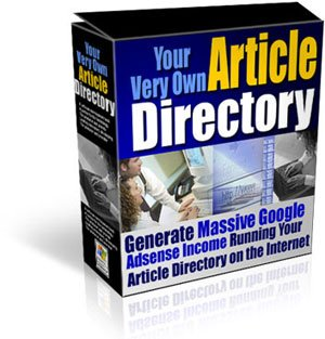 """Massive Google Adsense Income -  Run """"Your Very Own Article Directory"""""""