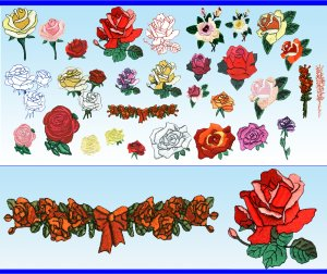 >>> Machine Embroidery Designs 30 NEW ROSES