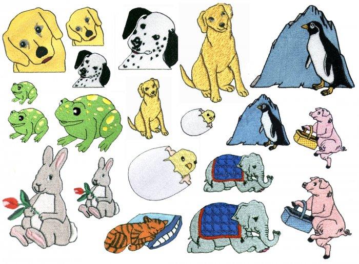 Machine Embroidery Designs CUTE ANIMALS