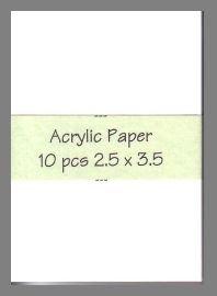 Montval Acrylic Paper precut blank art cards