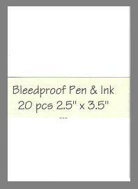 Bleedproof Paper precut blank art cards