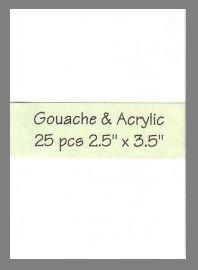 Gouache & Acrylic Paper preprimed precut blank art cards