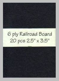 6 ply black Railroad Board precut blank art cards