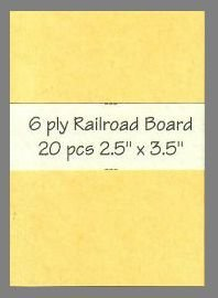 6 ply buff Railroad Board precut blank art cards