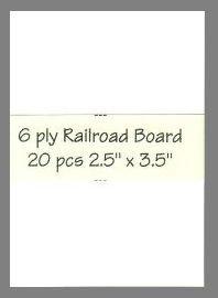 6 ply white Railroad Board precut blank art cards