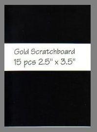 Black/Gold Scratchboard precut blank art cards