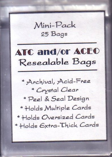 25 Resealable clear bags