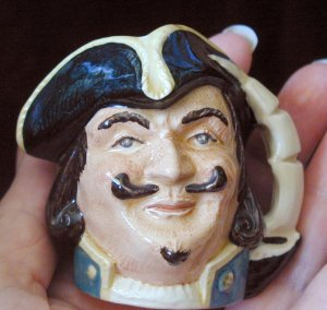 Royal Doulton Jug Miniature Captain Henry Morgan,