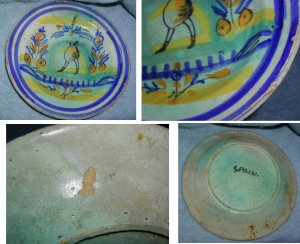 Charming Old Primitive Spanish Peasant Plate