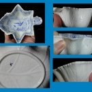 Early 19th century Wedgwood Leaf Form Pickle Dish with printed blue pattern.
