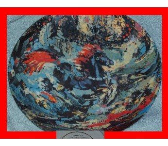 "Lenore Beran Plate ""The Little Blue Horse"""