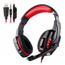 G9000 Gaming Headset Stereo Deep Bass Headphones With Mic Led Light For Ps4 Pc Gamer Black red