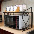Kitchen Storage Stand Iron Oven Rack Foldable Frame Utility Storage Shelf