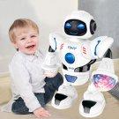 Smart Mini Robot Fun Robot Dancing Robot Toy Led Light Music Dance Robot white