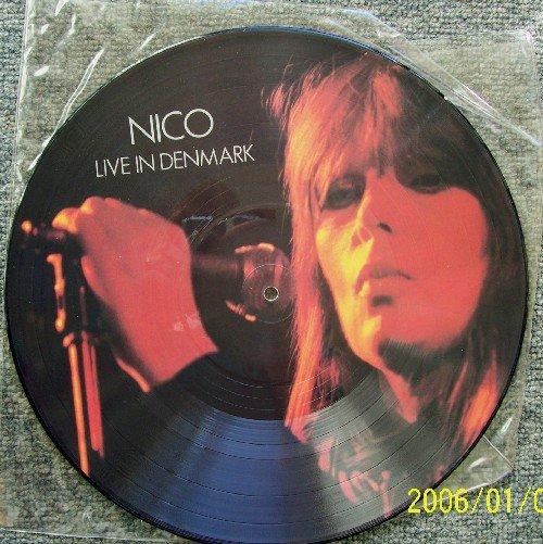 "NICO of Velvet Underground LIVE IN DENMARK  VU Vintage Vinyl Picture Disc 12"" MINT  RARE"