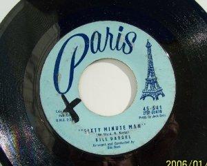 Bill Darnell Sixty Minute Man- A hundred girls Vintage Vinyl record  45rpm  Paris label