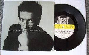 Elvis Costello and Attractions Man out of time FBEAT XX 28 45rpm vinyl record with sleeve
