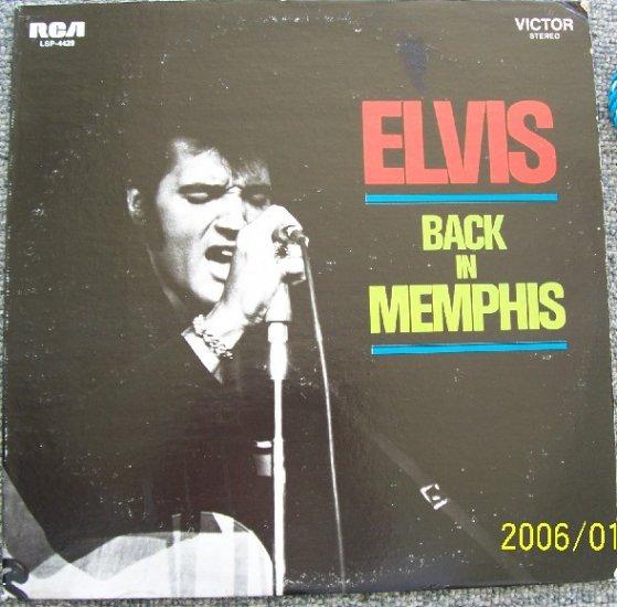 Elvis Presley Back In Memphis Vinyl LP  Lsp4429 1970