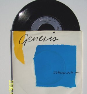 GENESIS Abacab Another record  45 rpm vinyl with sleeve Charisma 388