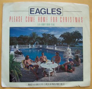 Eagles Funky New Year � Please Come Home For Christmas 45RPM vinyl with sleeve