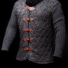 Men's Knitted Blazer Cardigan Metalic Chain Mail, Size L - XL