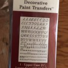 New instant expressions decorative paint transfers LETTERS N NUMBERS