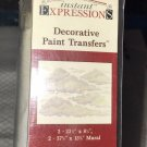 """New instant expressions decorative paint transfers CLOUDS 37x13"""""""