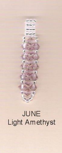 Swarvoski Crystal Birthstone Pendant - June