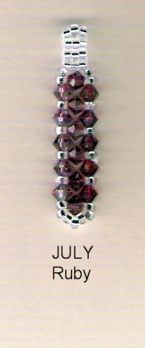 Swarvoski Crystal Birthstone Pendant - July