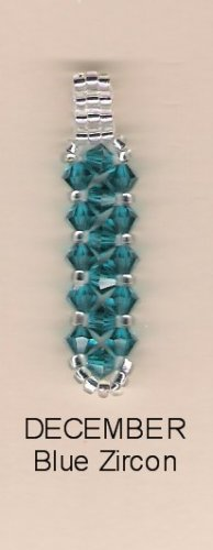 Swarvoski Crystal Birthstone Pendant - December