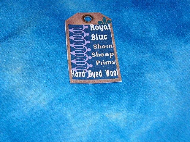 Royal Blue~SHIPS FREE IN US~Hand Dyed Rug Hooking Wool~Shorn Sheep~Fat Quarter Yard