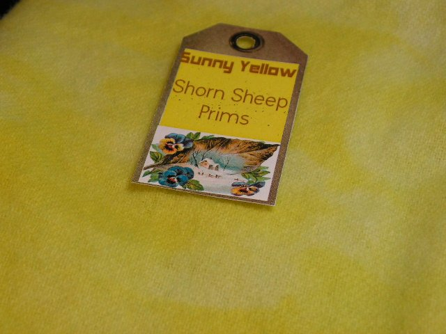Hand Dyed Rug Hooking Wool-Shorn Sheep Prims-US Ships Free-Sunny Yellow