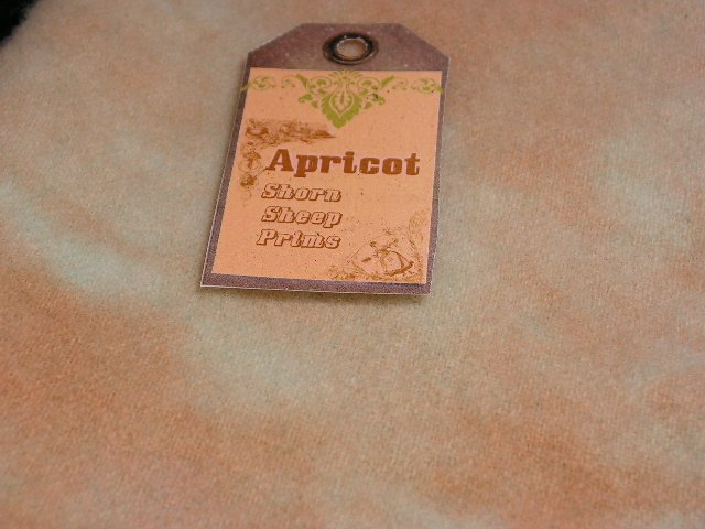 Hand Dyed Rug Hooking Wool with Lanolin - Shorn Sheep - Free USA Shipping - Quarter Yard -  Apricot