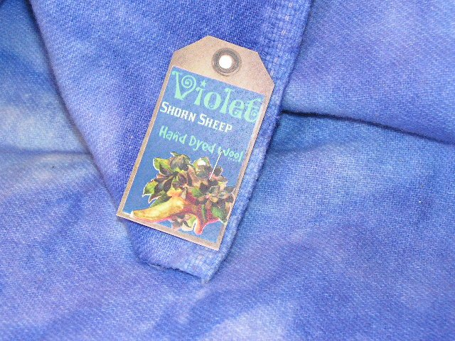 VIOLET - Hand Dyed Lanolin Wool - Rug Hook, Quilt, Penny Rug - Shorn Sheep - Free US Ship - 1/4 YD