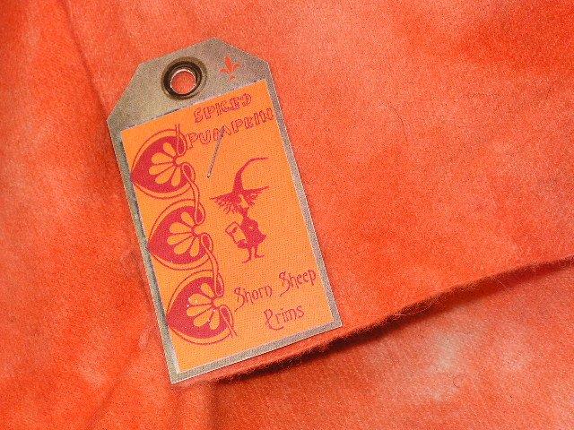 SPICED PUMPKIN - Hand Dyed Lanolin Wool - Rug Hook, Penny Rug - Shorn Sheep - Free US Ship - 1/4 YD