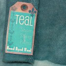 TEAL - Hand Dyed Lanolin Wool - Rug Hook, Quilt, Penny Rug - Shorn Sheep - Free US Ship - 1/4 YD
