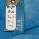 BRIGHT BLUE - Hand Dyed Lanolin Wool - Rug Hook, Penny Rug - Shorn Sheep - Free US Ship QU. YD