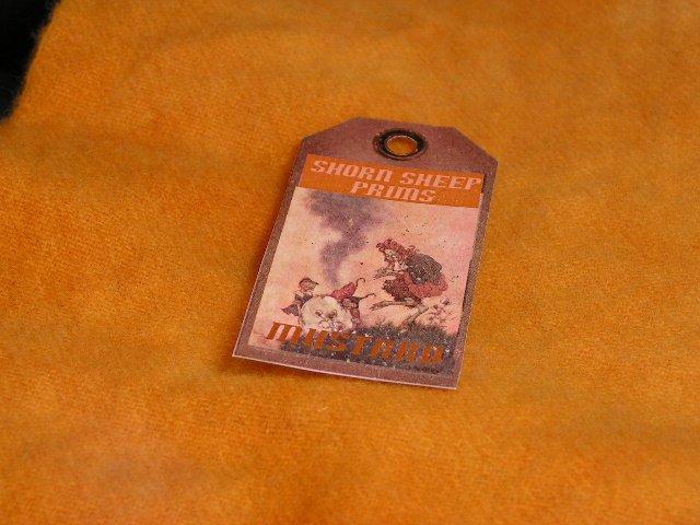 MUSTARD - Hand Dyed Rug Hooking Wool w/ Lanolin - Shorn Sheep Prims - FREE US SHIP