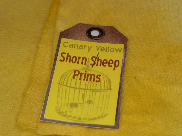 CANARY YELLOW - Hand Dyed Rug Hooking Wool - Shorn Sheep Prims - Qu. Yard - Ships Free US - Cut Free
