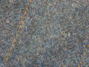 TWEED NO.1 - 100% wool fabric - Med. Grey with stripes - off the bolt - 5 yards - Shorn Sheep Wools