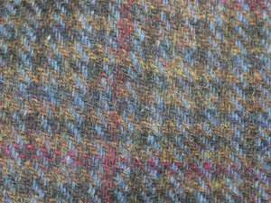 TWEED NO.2 - 100% wool fabric - Med. Olive checks - off the bolt - 5 yards - Shorn Sheep Wools