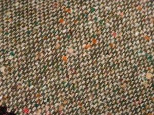 TWEED NO.13 - 85/15 wool/nylon fabric - DOTTED Tweed - off the bolt - 5 yards - Shorn Sheep Wools