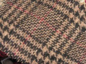 TWEED NO.16 - 100% wool fabric - FOREST GREEN CAMEL TWEED - off the bolt - 5 yd - Shorn Sheep Wools