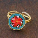 sweet & fun vintage glass micromosaic ring - jewelry