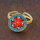 sweet & fun vintage glass micromosaic ring - jewelry